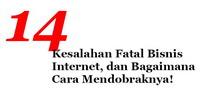 Gambar Ebook 14 Kesalahan Fatal Bisnis Internet dan Bagaimana Cara Mendobraknya