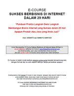 Gambar Ebook E Course Belajar Bisnis Internet Minggu Ke 1
