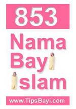 Gambar Ebook 853 nama bayi islam