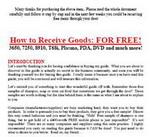 Gambar Ebook How to Receive Goods FOR FREE! (Bagaimana Cara Mendapatkan Barang-Barang secara Gratis!)