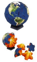 Gambar Ebook Globe Puzzle Papercraft
