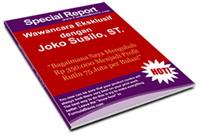 Gambar Ebook Special Report Wawancara Eksklusif dengan Joko Susilo ST