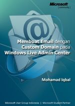 Gambar ebook membuat email dengan custom domain pada windows live admin center