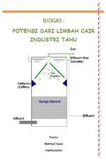 Gambar ebook Biogas Potensi Dari Limbah Cair Industri Tahu